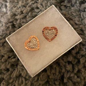 Michael Kors diamond heart earrings